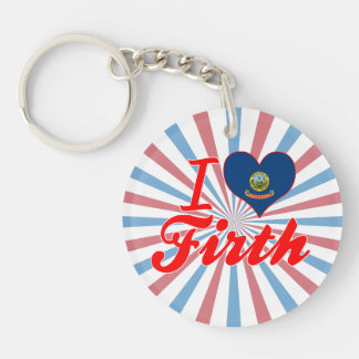 I Love Firth, Idaho Single-Sided Round Acrylic Key Ring