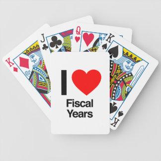 i love fiscal years bicycle card decks