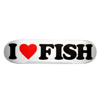 I LOVE FISH 21.6 CM OLD SCHOOL SKATEBOARD DECK