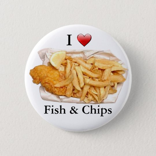 I Love Fish and Chips 6 Cm Round