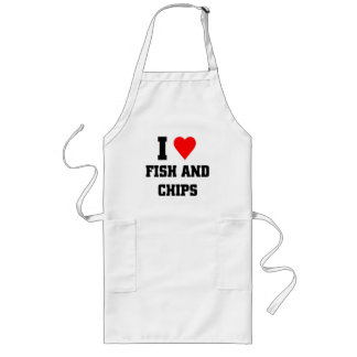 I love Fish and chips Aprons