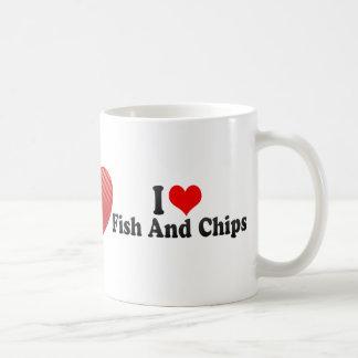 I Love Fish And Chips Coffee Mug