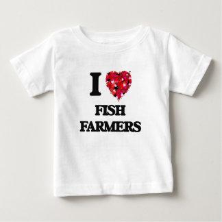 I Love Fish Farmers Tee Shirt