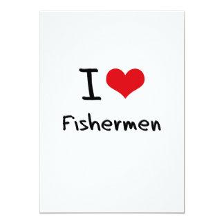 I Love Fishermen Invite