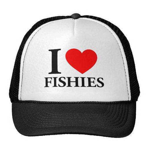 I Love Fishies Mesh Hats