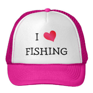 I Love Fishing Cap