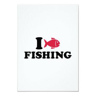 "I love Fishing fish 3.5"" X 5"" Invitation Card"