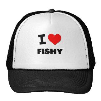 I Love Fishy Mesh Hat