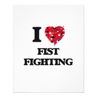 I Love Fist Fighting 11.5 Cm X 14 Cm Flyer