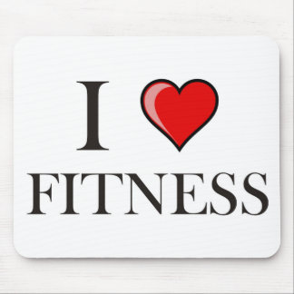 I love fitness mouse pad