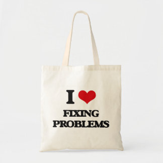 i LOVE fIXING pROBLEMS Tote Bags