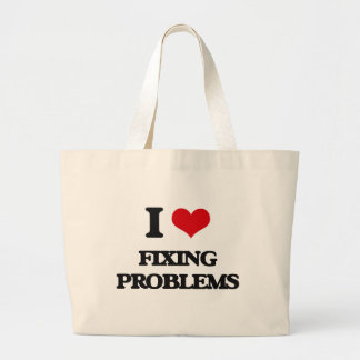 i LOVE fIXING pROBLEMS Canvas Bags