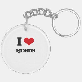i LOVE fJORDS Acrylic Key Chain