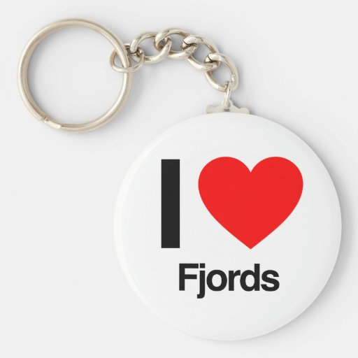 i love fjords keychains