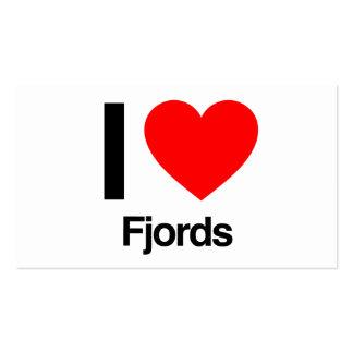 i love fjords pack of standard business cards