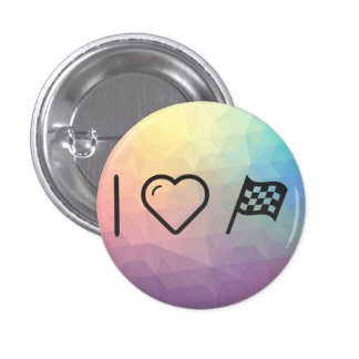 I Love Flag Assigns 3 Cm Round Badge