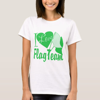 I Love Flag Team Green T-Shirt