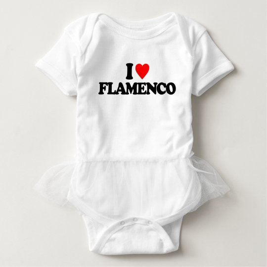 I LOVE FLAMENCO BABY BODYSUIT