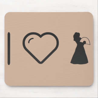 I Love Flamenco Fans Mouse Pad