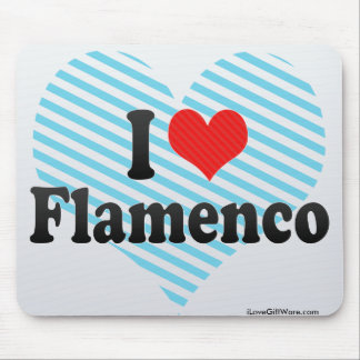I Love Flamenco Mouse Pad