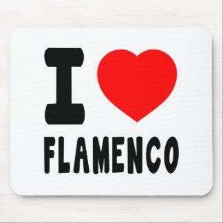 I Love Flamenco Mouse Pads