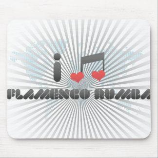 I Love Flamenco Rumba Mouse Pad