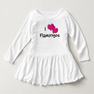 I Love Flamingos Toddler Dress