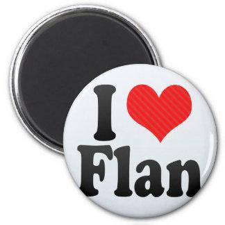 I Love Flan 6 Cm Round Magnet