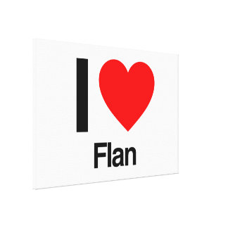 i love flan gallery wrapped canvas