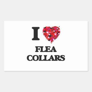 I love Flea Collars Rectangular Sticker