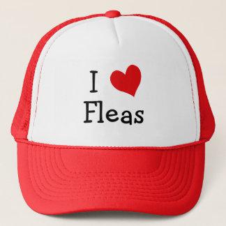 I Love Fleas Trucker Hat