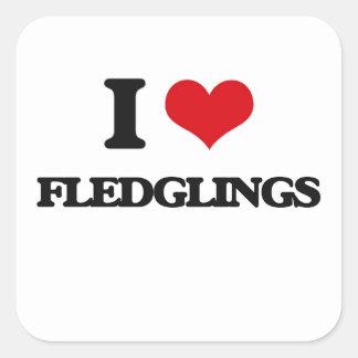 i LOVE fLEDGLINGS Square Sticker