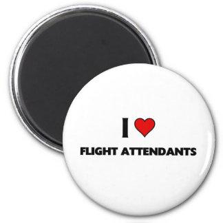 I love Flight attendants 6 Cm Round Magnet