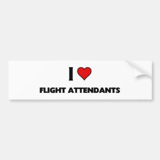 I love Flight attendants Car Bumper Sticker