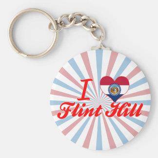 I Love Flint+Hill, Missouri Key Chain