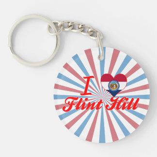 I Love Flint+Hill, Missouri Keychains