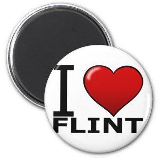 I LOVE FLINT, MI - MICHIGAN MAGNET