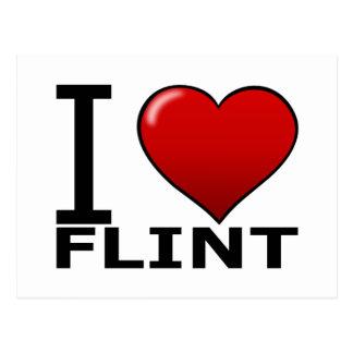 I LOVE FLINT, MI - MICHIGAN POSTCARD