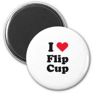 I love flip cup 6 cm round magnet