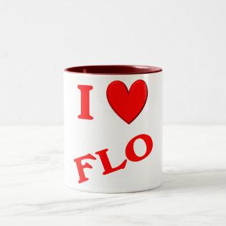 I Love Flo Two-Tone Coffee Mug