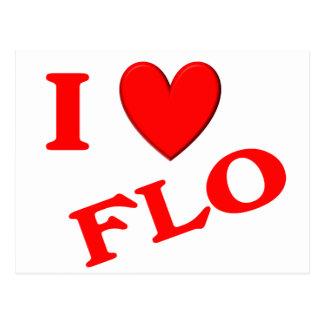 I Love Flo Postcard