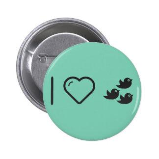 I Love Flock of Birds 6 Cm Round Badge
