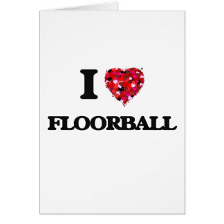 I Love Floorball Card