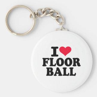 I love Floorball Key Ring