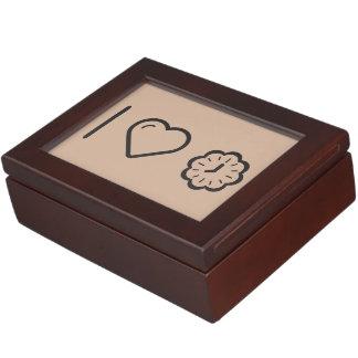I Love Floral Clocks Keepsake Boxes