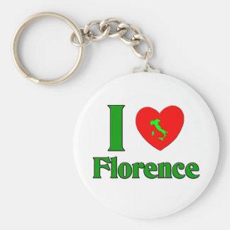 I Love Florence Italy Basic Round Button Key Ring