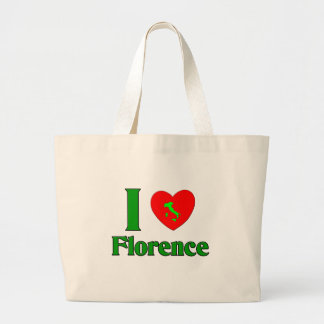 I Love Florence Italy Large Tote Bag