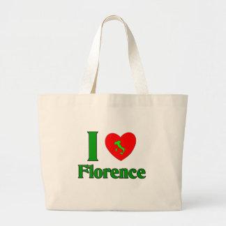 I Love Florence Italy Jumbo Tote Bag