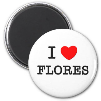 I Love Flores Magnet