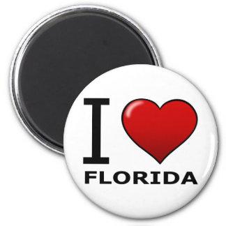 I LOVE FLORIDA 6 CM ROUND MAGNET